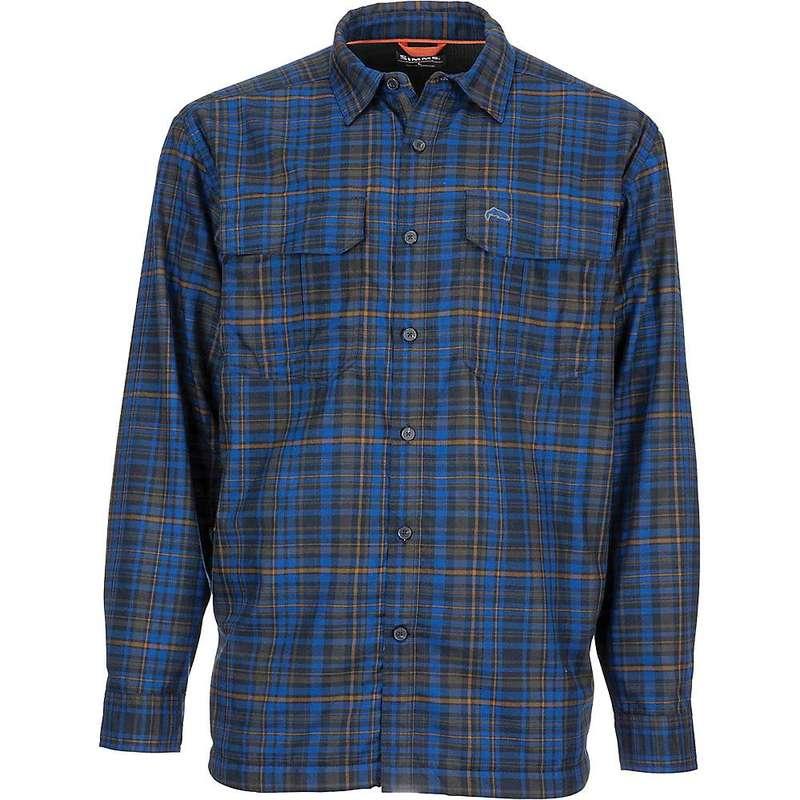 シムズ メンズ シャツ トップス Simms Men's ColdWeater LS Shirt Rich Blue Admiral Plaid