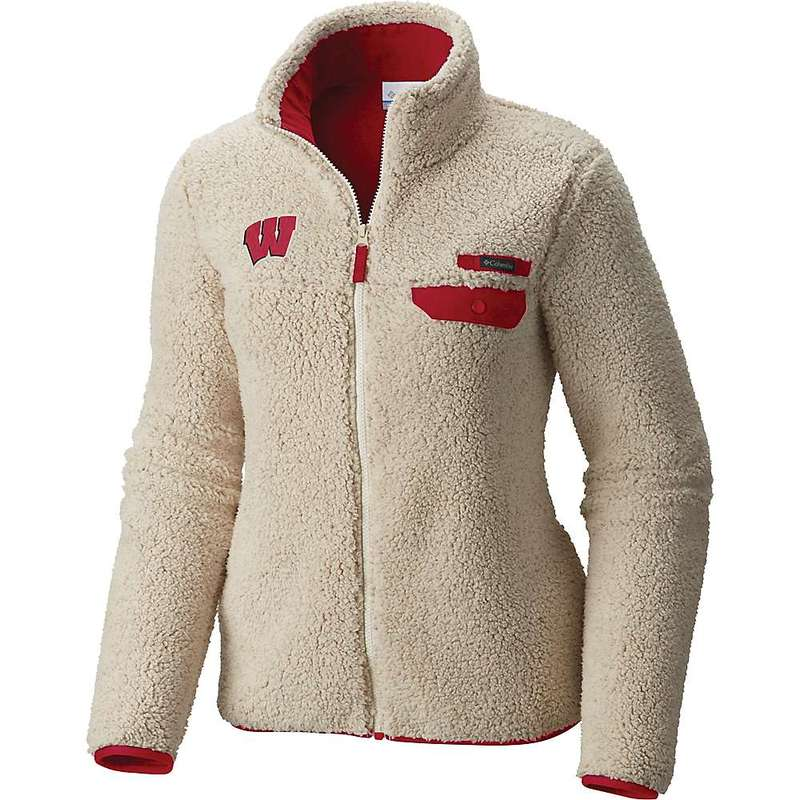 コロンビア レディース ジャケット・ブルゾン アウター Columbia Women's Collegiate Mountain Side Heavyweight Fleece Jacket WIS - Chalk / Intense Red