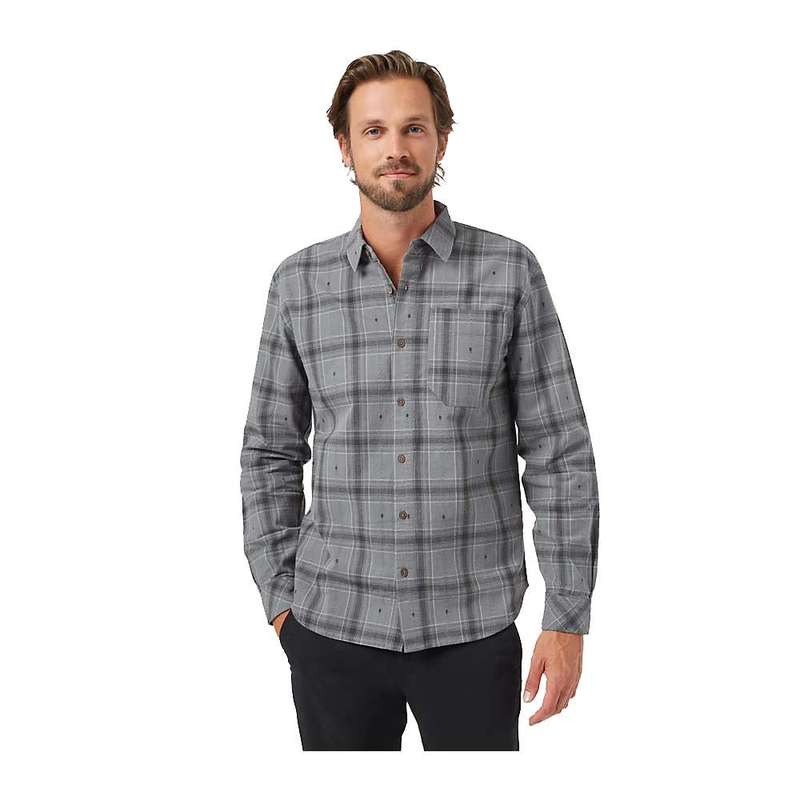 テンツリー メンズ シャツ トップス Tentree Men's Benson Flannel Shirt Gargoyle Grey Tree Plaid