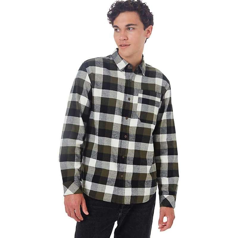 テンツリー メンズ シャツ トップス Tentree Men's Benson Flannel Shirt Olive Night Green Campfire Plaid
