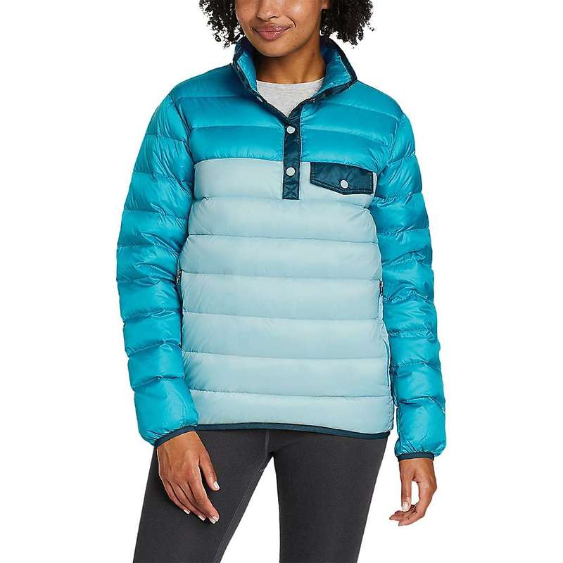 エディー バウアー レディース ジャケット・ブルゾン アウター Eddie Bauer Women's Cirruslite Snap Mock Jacket Meridian Blue