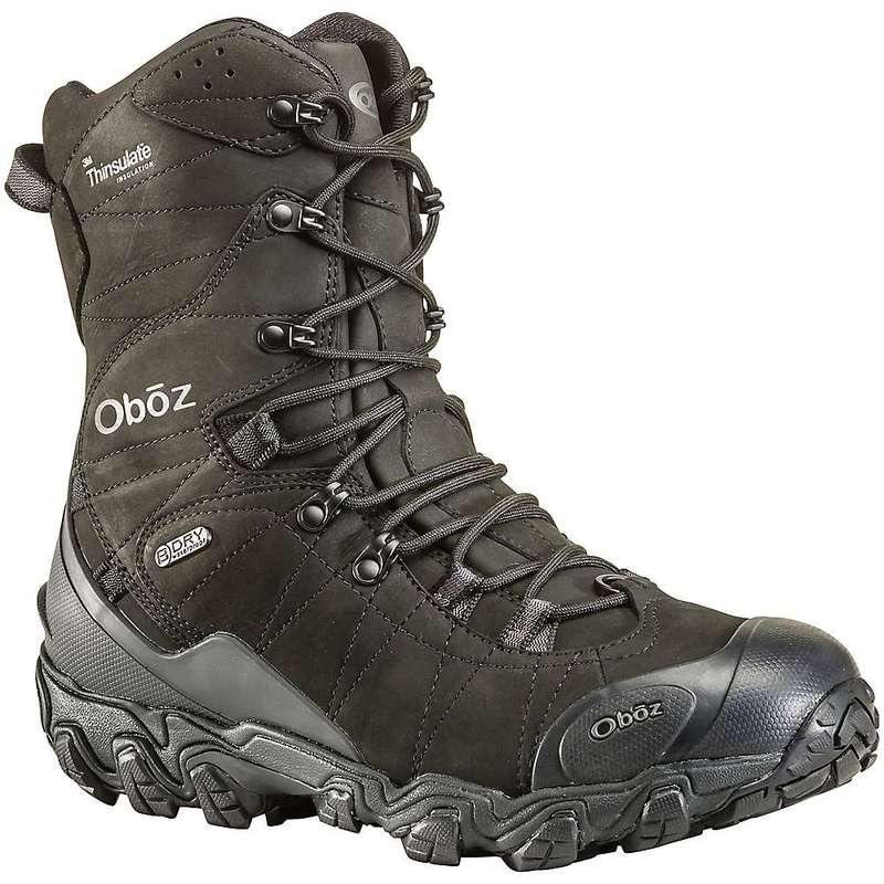 送料無料 サイズ交換無料 オボズ NEW メンズ シューズ ブーツ レインブーツ Midnight ☆最安値に挑戦 Bridger B-Dry Black Men's Insulated Boot Oboz 10IN
