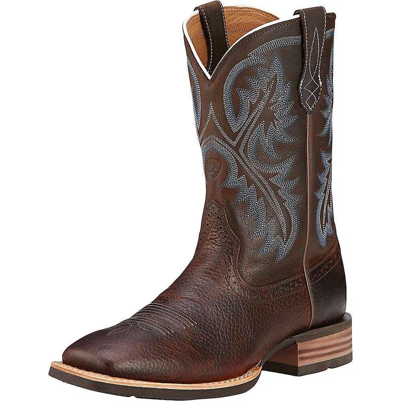 送料無料 正規品送料無料 サイズ交換無料 アリアト メンズ シューズ ブーツ レインブーツ 供え Rowdy Oiled Boot Quickdraw Brown Men's Ariat