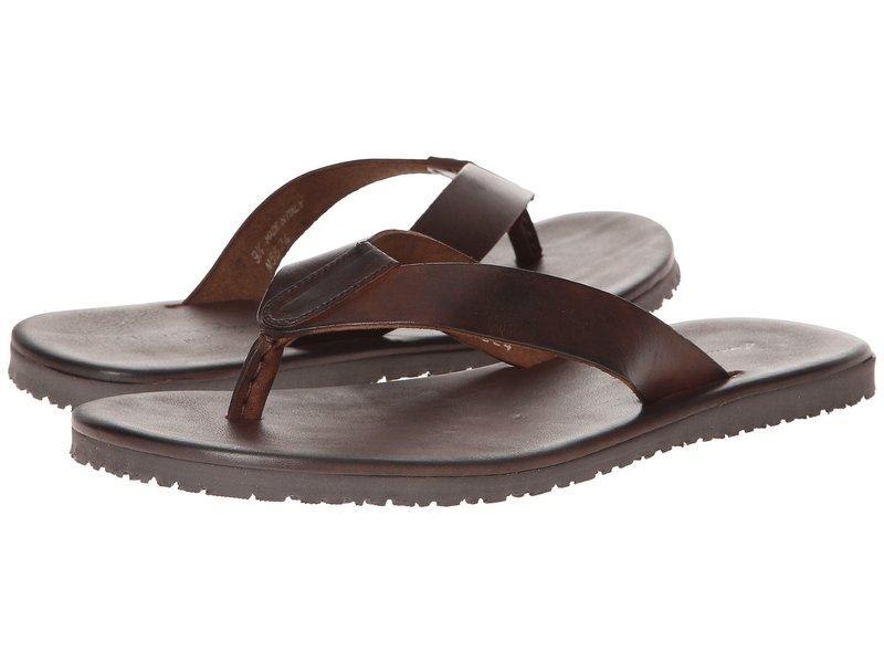 マッシモマッテエロ メンズ サンダル シューズ Leather Thong Sandal Marrone