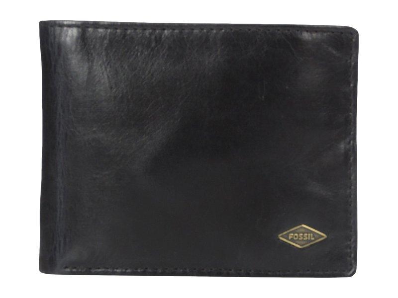 フォッシル メンズ 財布 アクセサリー Ryan RFID Leather Passcase Wallet Black