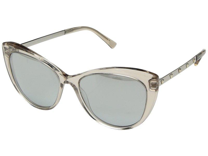 ヴェルサーチ レディース サングラス・アイウェア アクセサリー VE4348 Transparent Rose Brown/Light Grey Mirror Silver
