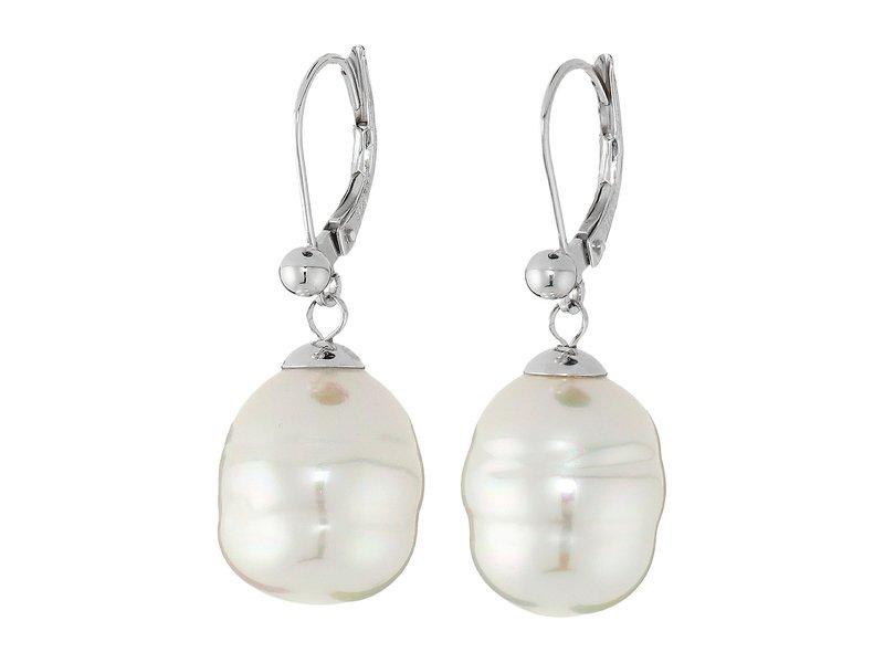 マジョリカ レディース ピアス・イヤリング アクセサリー 12mm Baroque Pearl Drop Earrings White 1