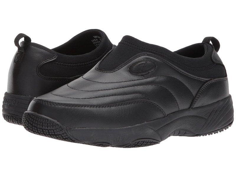 プロペット レディース スニーカー シューズ Wash & Wear Slip-On II Black Leather