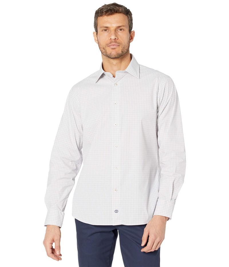 至高 送料無料 サイズ交換無料 デイビッドドナヒュー メンズ トップス シャツ 高級な White Trim Shirt Gird Bark Performance Fit Dress