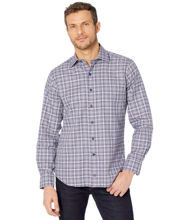 送料無料 1着でも送料無料 サイズ交換無料 デイビッドドナヒュー メンズ トップス シャツ Shirt Sport Large 無料サンプルOK Navy Plaid