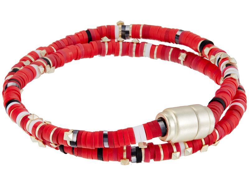 送料無料 サイズ交換無料 ケンドラスコット レディース アクセサリー ブレスレット バングル Wrap Mix Reece Bracelet 超激安 大規模セール Gold アンクレット Red