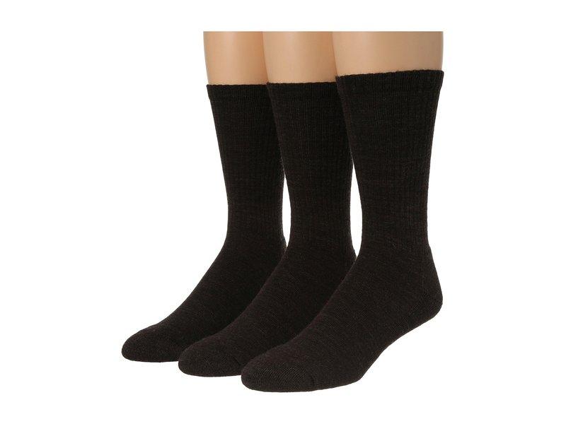 スマートウール メンズ 靴下 アンダーウェア Heathered Rib 3-Pair Pack Chestnut/Black
