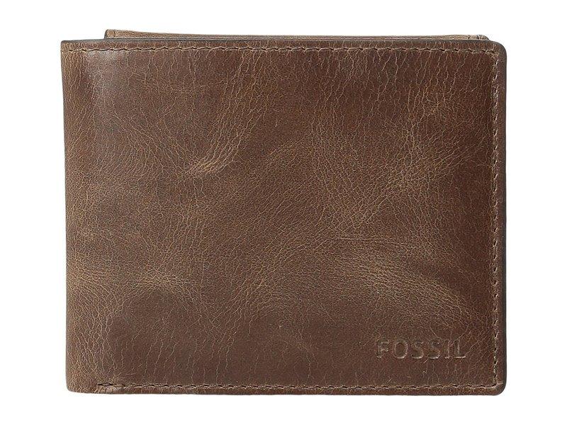 フォッシル メンズ 財布 アクセサリー Derrick RFID Passcase Brown
