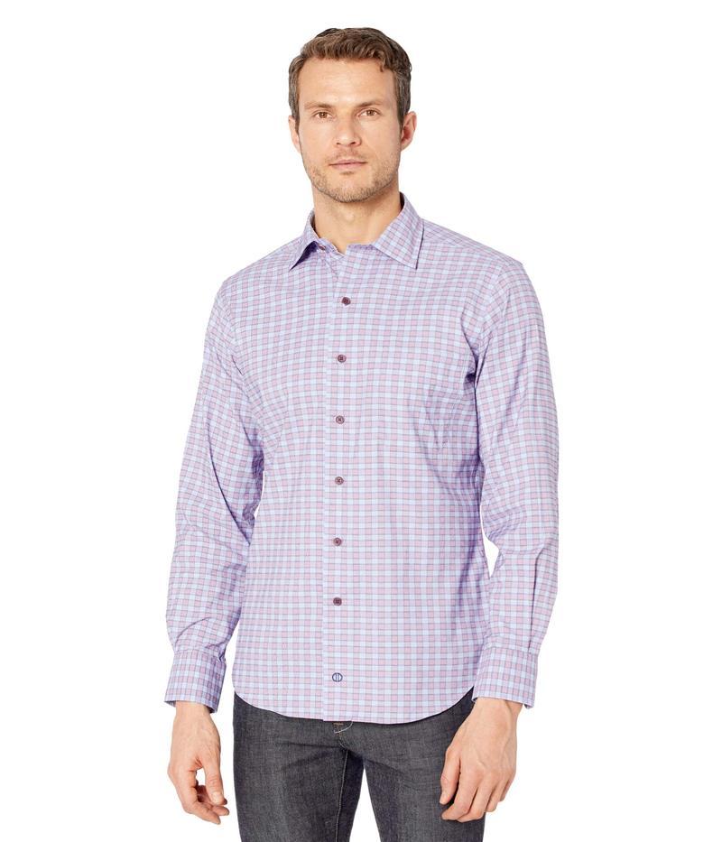 送料無料 サイズ交換無料 デイビッドドナヒュー 結婚祝い メンズ トップス 再販ご予約限定送料無料 Check Sport シャツ Shirt Plum