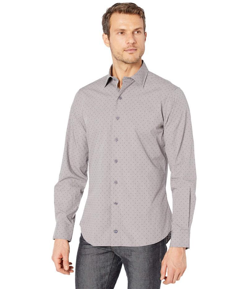 送料無料 サイズ交換無料 デイビッドドナヒュー メンズ 2020 新作 トップス ディスカウント シャツ Micro Neat Shirt Slate Fusion