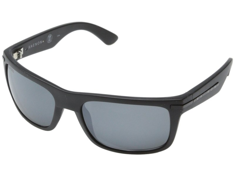 カエノン メンズ サングラス・アイウェア アクセサリー Burnet Matte Black/Grey Mirrored G12M