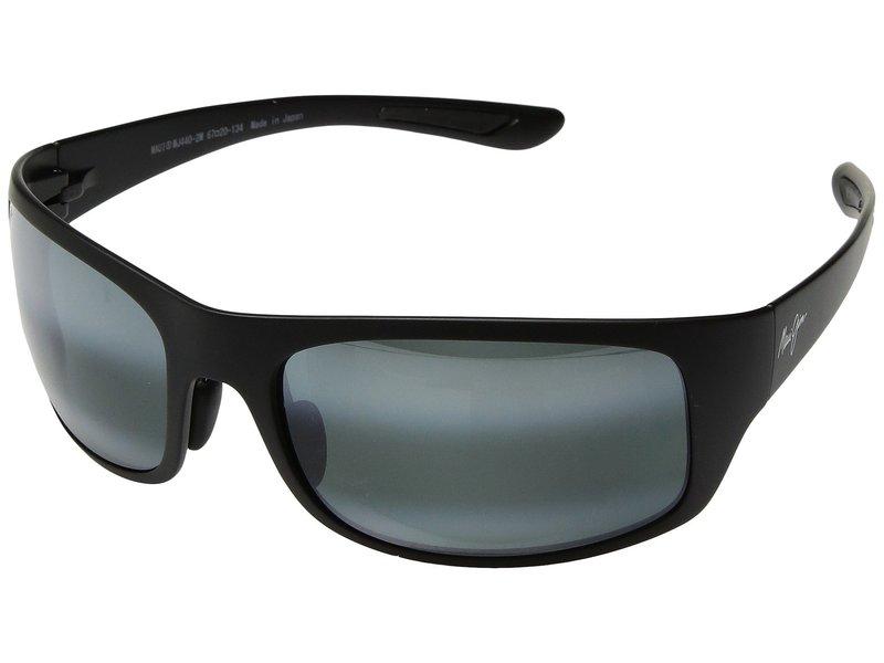 マウイジム メンズ サングラス・アイウェア アクセサリー Big Wave Matte Black/Neutral Grey