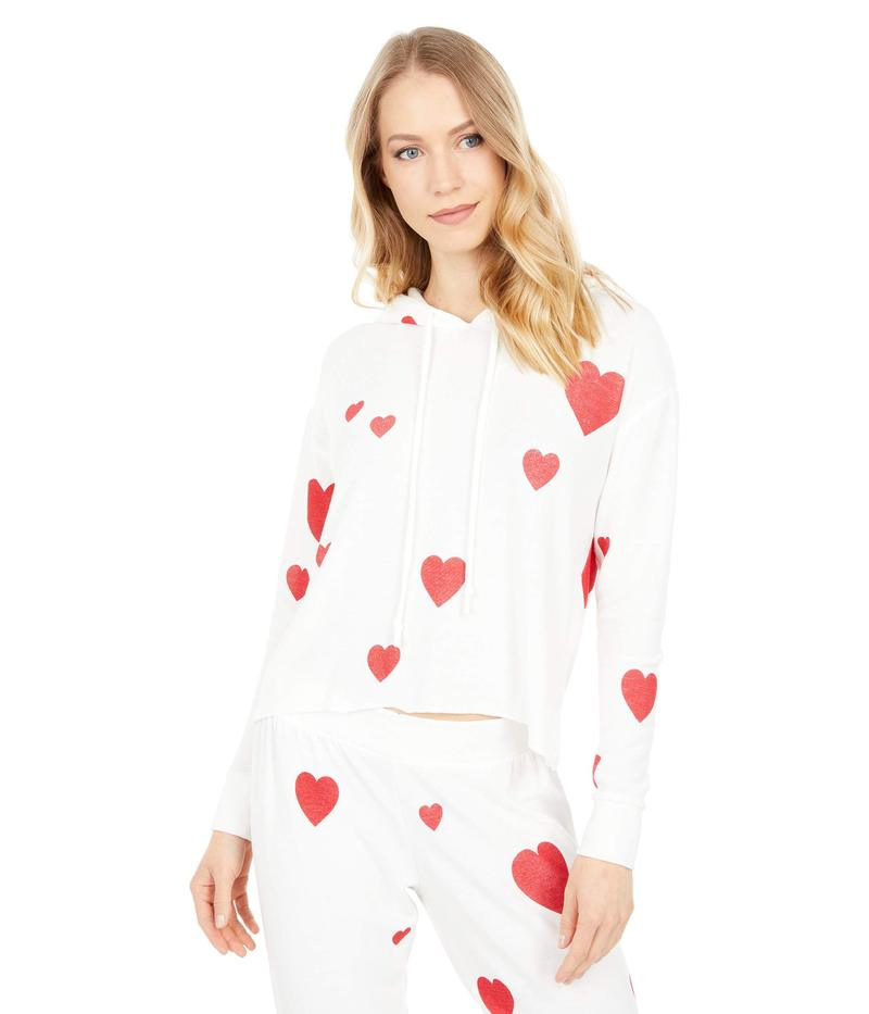 送料無料 サイズ交換無料 チェイサー レディース アウター パーカー アイテム勢ぞろい スウェット Cream Cozy Valentine 上質 Hoodie Knit Cropped