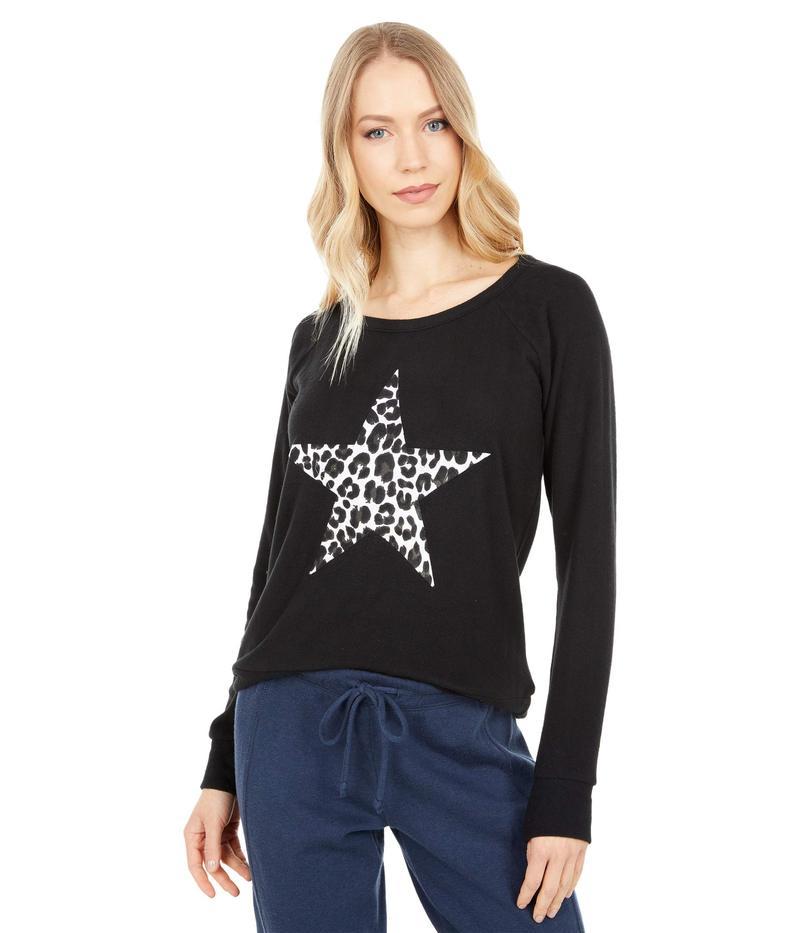 送料無料 ふるさと割 サイズ交換無料 チェイサー レディース アウター パーカー スウェット Knit Bliss Star 初回限定 Leopard True Black Sweatshirt