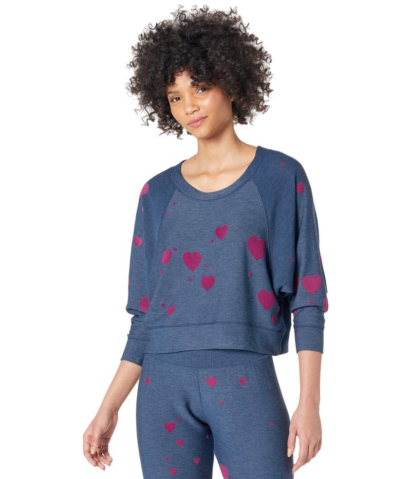 送料無料 サイズ交換無料 チェイサー レディース アウター パーカー スウェット Avalon Knit Sweatshirt 販売 Raglan Cozy Plum 価格交渉OK送料無料 Hearts Sleeve