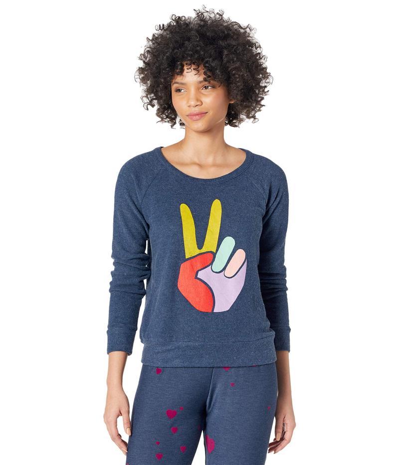 送料無料 サイズ交換無料 チェイサー レディース アウター パーカー 人気 スウェット Fingers Sweatshirt Avalon Bliss Knit Peace 5%OFF