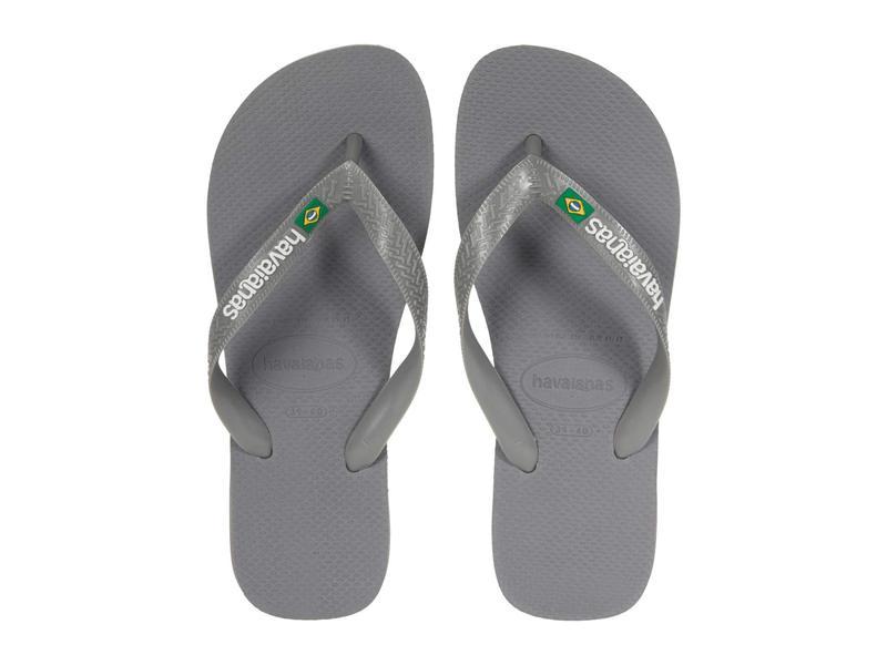 送料無料 サイズ交換無料 ハワイアナス レディース シューズ 高級な サンダル 配送員設置送料無料 Steel Grey Flops Logo Flip Brazil