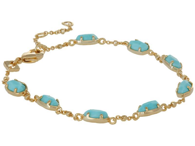 一部予約 送料無料 サイズ交換無料 ケンドラスコット レディース アクセサリー ブレスレット バングル Gold Link アンクレット Blue 注目ブランド Emilie Light Bracelet