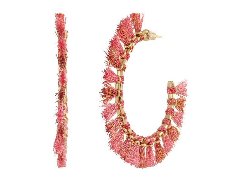 送料無料 サイズ交換無料 大特価!! ケンドラスコット レディース アクセサリー ピアス Pink Hoop 超歓迎された Gold Evie Earrings イヤリング