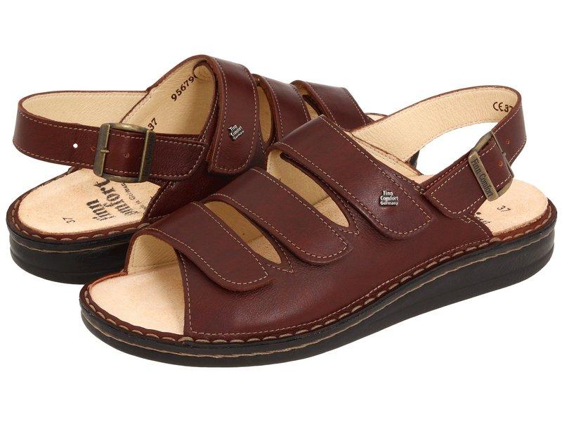 フィンコンフォート レディース サンダル シューズ Sylt - 82509 Brandy Country Soft Footbed