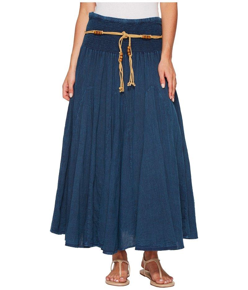 スカーリー レディース スカート ボトムス Cantina Gar-Ye Skirt w/ Belt Dark Blue