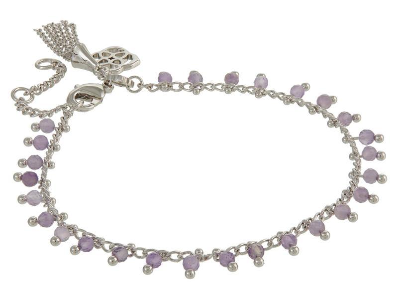 送料無料 サイズ交換無料 人気の製品 ケンドラスコット レディース アクセサリー ブレスレット バングル アンクレット Rhodium (人気激安) Purple Delicate Bracelet Jenna
