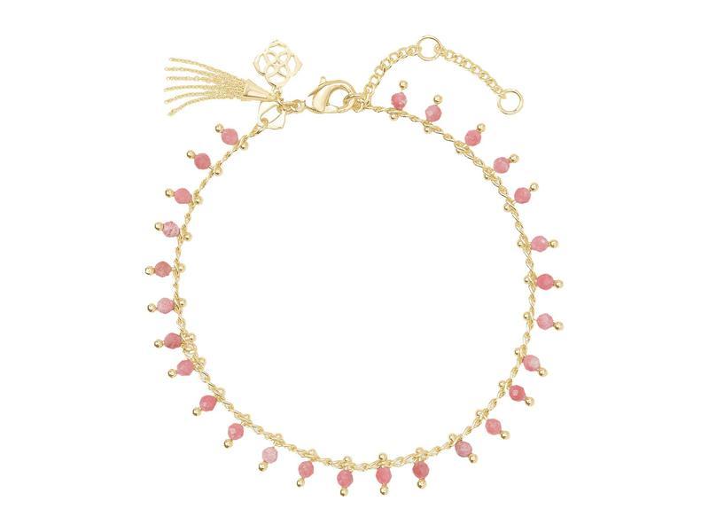 送料無料 サイズ交換無料 ケンドラスコット レディース アクセサリー 販売 ブレスレット バングル Rhodo Delicate Bracelet アンクレット 限定タイムセール Gold Jenna Pink
