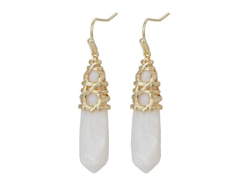 送料無料 サイズ交換無料 ケンドラスコット レディース アクセサリー ピアス イヤリング White 売り込み 定番キャンバス Natalie Gold Muss Earrings Drop