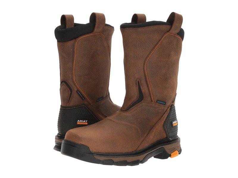 送料無料 サイズ交換無料 アリアト 格安激安 メンズ シューズ 在庫一掃売り切りセール ブーツ Intrepid Brown H2O Pull-On レインブーツ Rye
