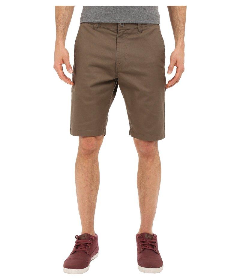 ボルコム メンズ ハーフパンツ・ショーツ ボトムス Frickin Modern Stretch Chino Shorts Mushroom