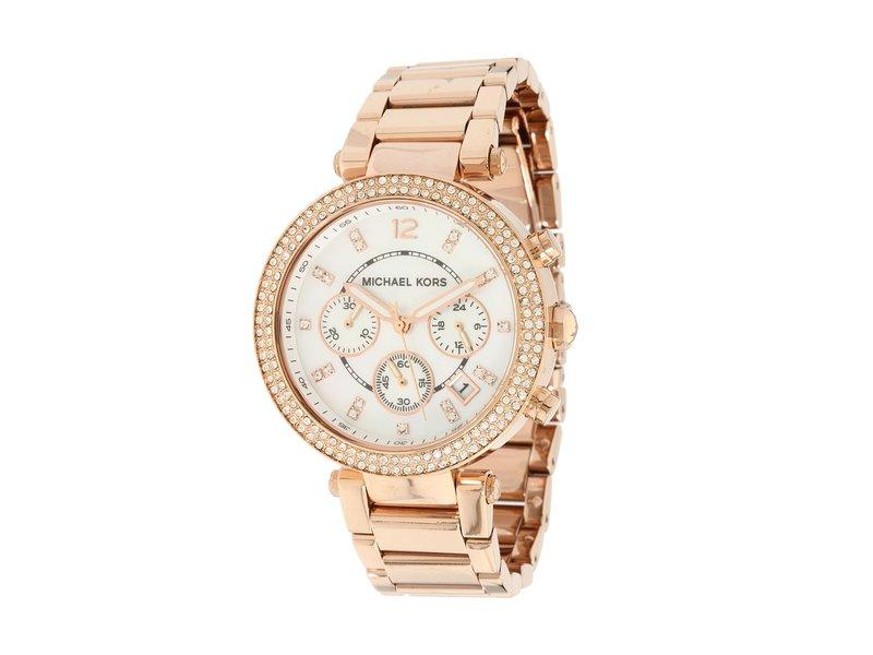 マイケルコース レディース 腕時計 アクセサリー MK5491 - Parker Chronograph Rose Gold IP