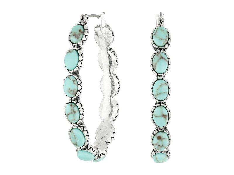 ラッキーブランド レディース ピアス・イヤリング アクセサリー Oblong Turquoise Inlay Hoop Earring Turquoise