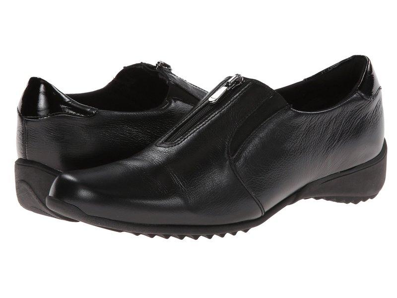 ムンロー レディース スリッポン・ローファー シューズ Berkley Black Leather