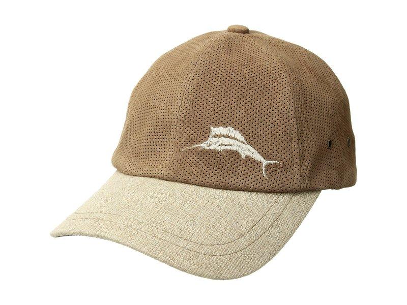 トッミーバハマ メンズ 帽子 アクセサリー Perforated Leather Cap Natural