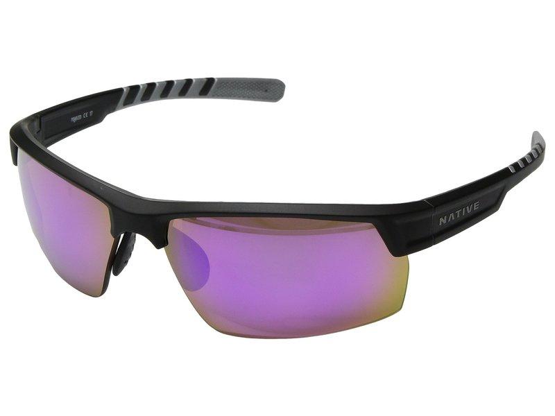 ネイティブアイウェア メンズ サングラス・アイウェア アクセサリー Catamount Matte Black/Crystal/Violet Reflex Polarized Lens