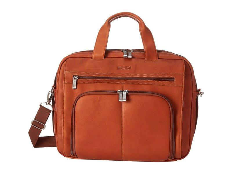 ケネスコール メンズ PC・モバイルギア アクセサリー Out of the Bag - 5 to 6 1/2 Double Gusset Expandable Top Zip Portfolio Computer Case Cognac