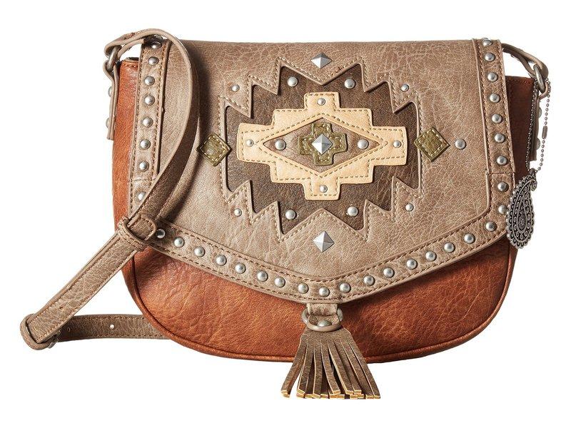 アメリカンウェスト レディース ハンドバッグ バッグ Earth Bound Crossbody Flap Bag Copper/Stone