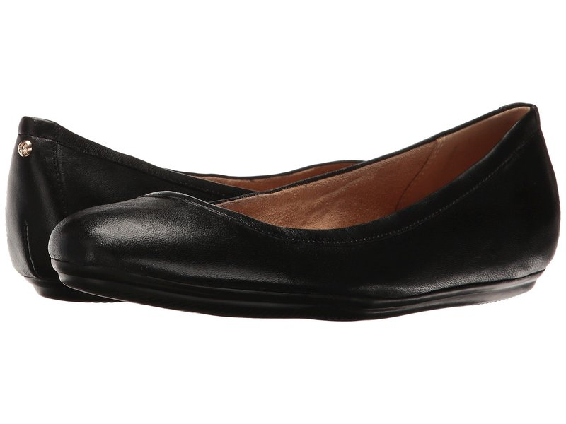 ナチュライザー レディース サンダル シューズ Brittany Black Leather