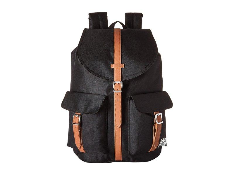 ハーシェルサプライ レディース バックパック・リュックサック バッグ Dawson Black/Tan Synthetic Leather