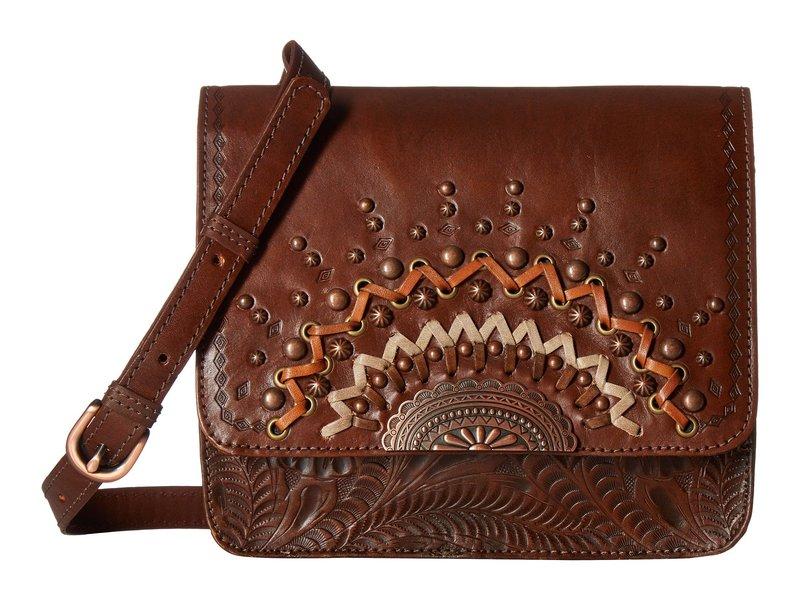 アメリカンウェスト レディース ハンドバッグ バッグ Bella Luna Multi-Compartment Crossbody Flap Bag Chestnut Brown