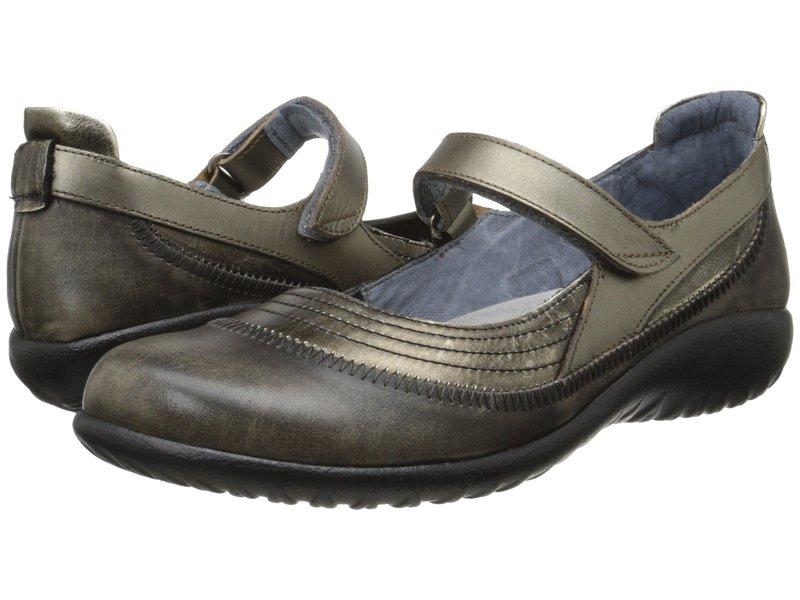 ナオト レディース サンダル シューズ Kirei Metal Leather/Vintage Gray Leather/Pewter Leather