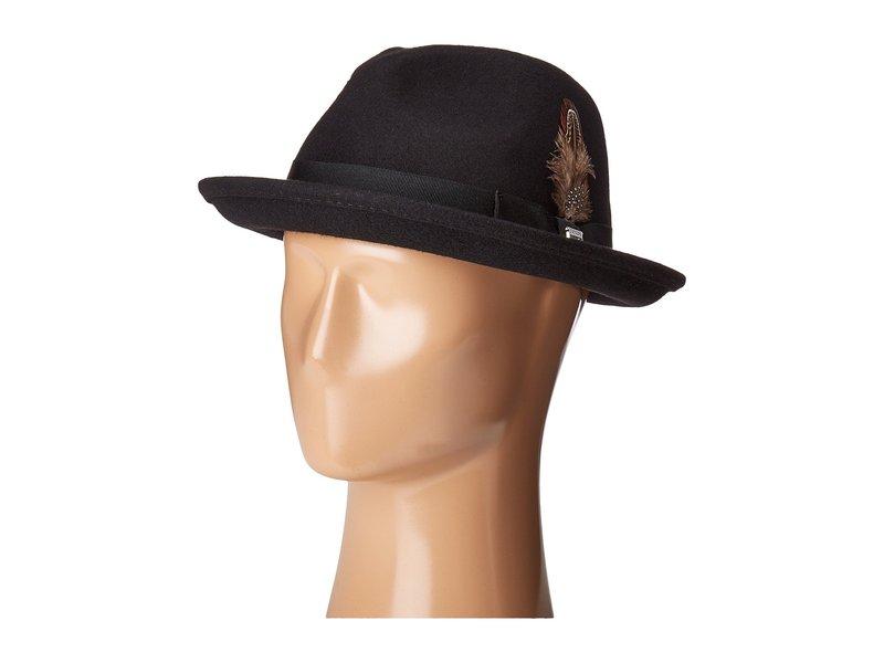 ステイシーアダムス メンズ 帽子 アクセサリー Fedora with Matching Trim Black