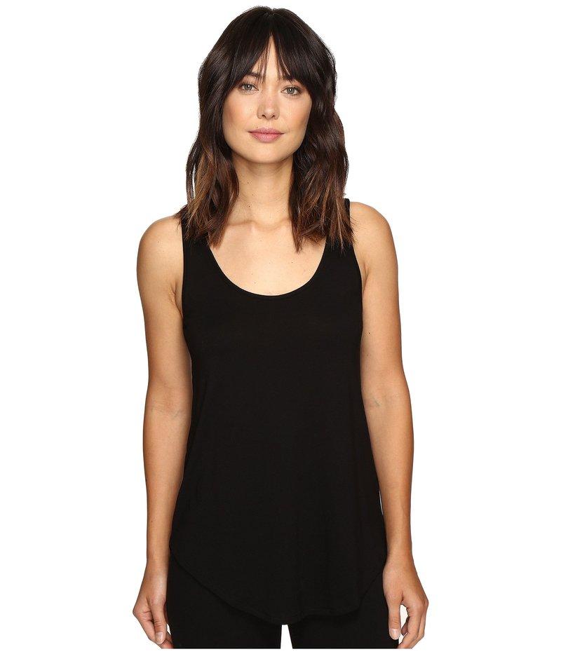 リラピー レディース シャツ トップス Pima Modal Shirttail Scoop Black