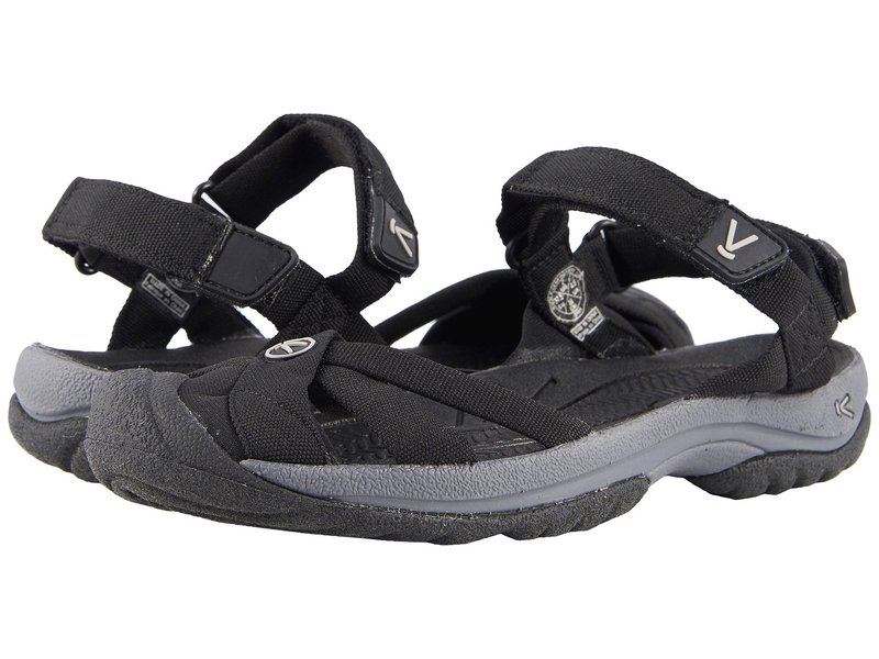 キーン レディース サンダル シューズ Bali Strap Black/Steel Grey