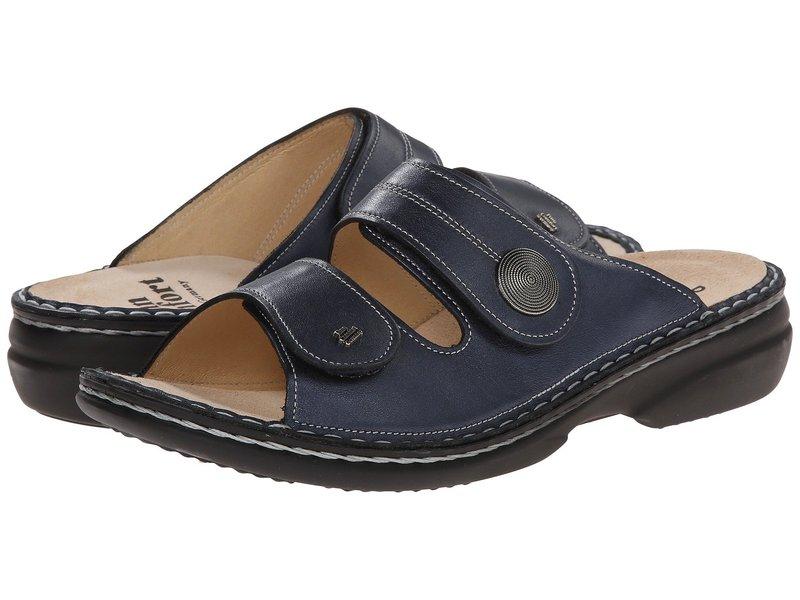 フィンコンフォート レディース サンダル シューズ Sansibar - 82550 Marine Leather